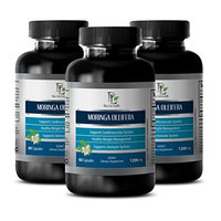 Metabolism fat burner - MORINGA OLEIFERA EXTRACT 1200 MG - Moringa vitamins - 3 Bottle 180 Capsules