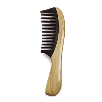 Silentrees Hair Comb No Static Buffalo Horn Comb with wood Handle