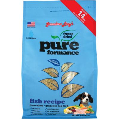 Grandma Lucy's Pureformance Fish Recipe Freeze Dried Grain Free Dog Food
