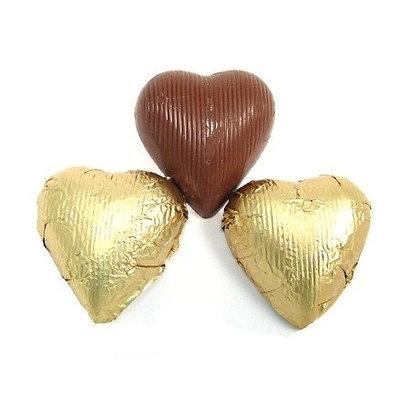 Madelaine Chocolate Company Gold Foiled Chocolate Hearts, 10LBS