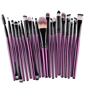 Makeup Brush Set,Neartime 20 pcs Beauty Tool Toiletry Kit Wool Make Up Brush Set (Purple)