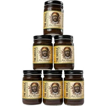 The Shizzle Original Jerk Seasoning Marinade (Six Pack) – 14 Ounce Jar – Authentic Island Flavor w/Pineapple Base – Traditional Rub – Sauce for Chicken, Pork, Etc