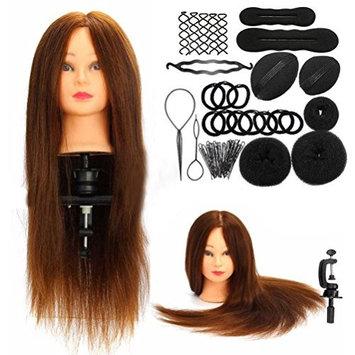 Head Model, Hatop Fashion Hairdressing Training Model Practice Head + Braid Sets
