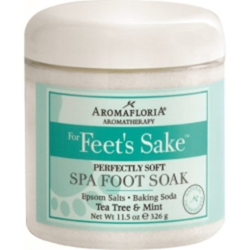 FOR FEET'S SAKE by Aromafloria - PERFECTLY SOFT SPA FOOT SOAK BLEND OF TEA TREE AND MINT 11.5 OZ JAR - UNISEX