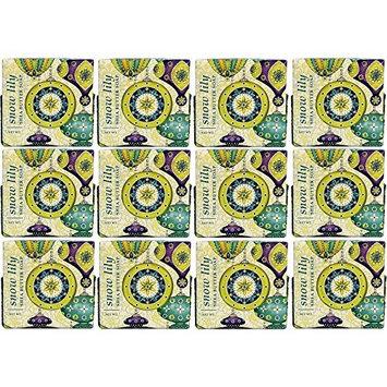 Greenwich Bay Trading Company 1.9oz Soap Bulk Packs of 12 (Snow Lily)