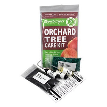 Growscripts 5PC Orchard Fruit Tree Kit for Container/Patio Apples, Cherries & Peaches