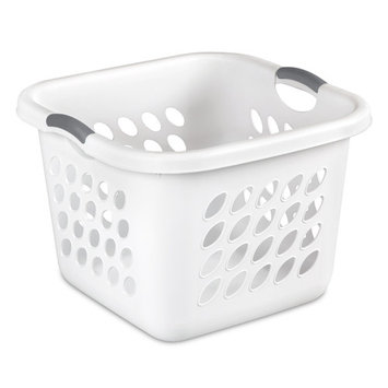 Sterilite 1.5 Bushel Square Ultra Laundry Basket, White