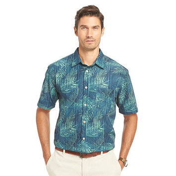 Van Heusen Short Sleeve Leaf Woven Shirt