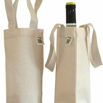 USA Wholesaler - 1030741 - ECOBAGS Canvas Wine Bag (1 bottle) 6.5x12 - Recycled Cotton - 1 Bag