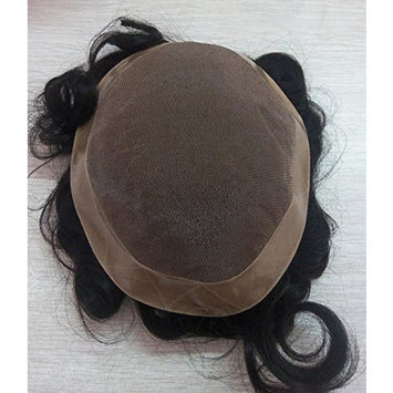 Quercy Hair Hand Tied 130% Density Mono Lace Men Hair Toupee 7