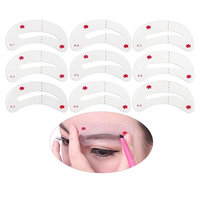 WINOMO Eyebrow Shaping Stencils, Eyebrow Grooming Stencil Kit, Shaping Templates DIY Tools 9 Styles(Mainly White) (White)