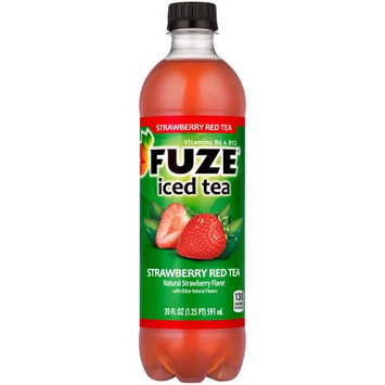 Coca Cola Fuze Iced Red Tea, Strawberry, 20 Fl Oz, 24 Ct