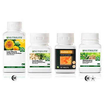 Nutrilite Weight-loss (Bundle) SLIMMETRY Dietary Supplement - Carb Blocker - Rhodiola 110 Supplement & Lean Muscle CLA 500