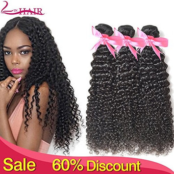 Lin Hair Unprocessed Brazilian Kinkys Curly Virgin Human Hair Weave 4 Bundles 100% Real Human Hair Can Be Dayed (20