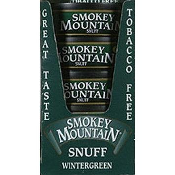 Smokey Mountain Snuff, 5 Cans - Wintergreen - Tobacco Free, Nicotine Free
