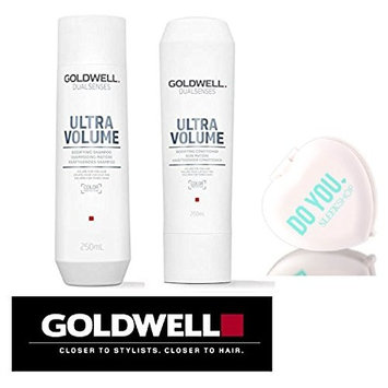 Goldwell Dualsenses Ultra Volume Bodifying Shampoo & Conditioner DUO Set (with Sleek Compact Mirror)