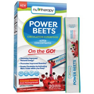 Nu Therapy Power Beets On the Go (12 Powder) by Nu Therapy at the Vitamin Shoppe