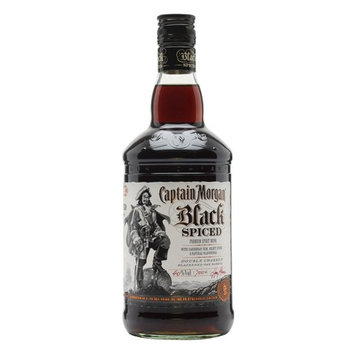 Captain Morgan Black Spiced Rum, 1 L (94.6 Proof)