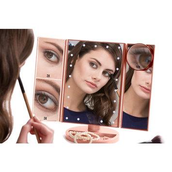 iLuminate 2x, 3x, 10x Folding Lighted Vanity Mirror