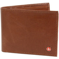 RFID SAFE Alpine Swiss Men's Deluxe Wallet Genuine Leather 14 Pocket ID Bif