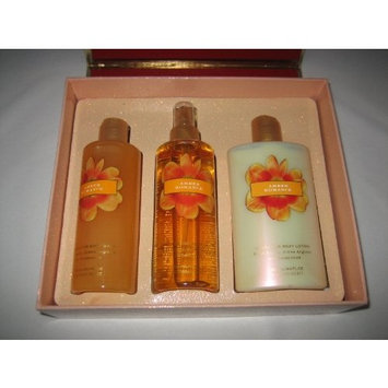 Victoria Secret Garden Collection Amber Romance Body Lotion, Body Mist and Body Wash Gift Set