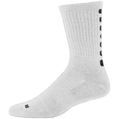 6090 Color Block Crew Sock - Youth WHITE/BLACK 42560