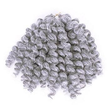 Furice Short Wand Curl Spiral Bouncy Jumpy Crochet Hair Afro Haircuts Small Curls African Hair Extensions For Black Women Kanekalon Fiber 20 Strands/Pc