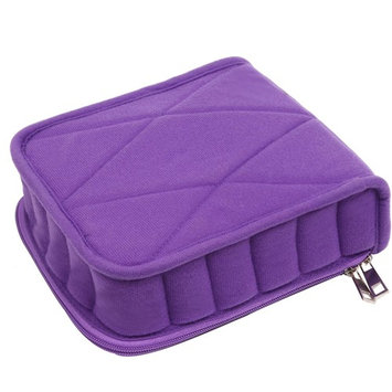 Queentools 30-Bottles Essential Oil Carrying Case – for Travelling Oils Display, Organizer Bag with Double Zipper, Contains 5ml,10ml,15ml Bottles (Purple)