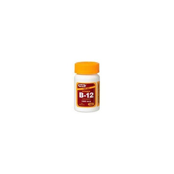 Rugby Vitamin B-12 1000mcg as Cyanocobalamin 100 tablets