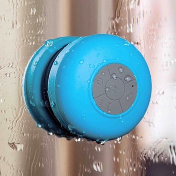 Arc® Bluetooth Waterproof Wireless Shower Handsfree Mic Suction Chuck Speaker Blue