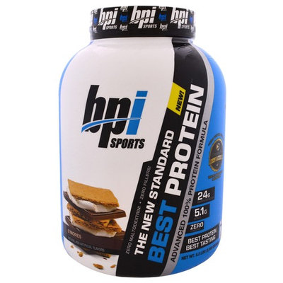 BPI Sports, Best Protein, Advanced 100% Protein Formula, S'Mores, 5.2 lbs (2,363 g) [Flavor : S'Mores]