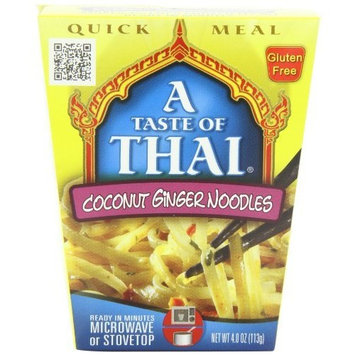 A Taste of Thai Coconut Ginger Noodles Quick Meal, 4-Ounce Boxes (Pack of 6)