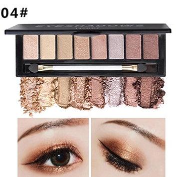 Creazy 8 Color Nude Makeup Eye Shadow Palette Smoky Glitter Matte Make Up Brush Tool