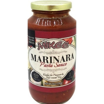 Mikee Marinara Pasta Sauce Gluten Free KFP 25 Oz. Pack Of 3.
