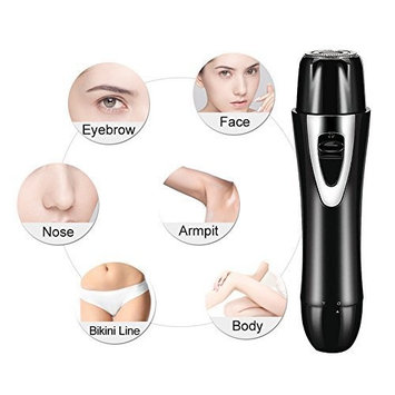 Women Electric Hair Trimmer, 4 in 1 Lady Facial Shaver for Nose/Eyebrow/Lint/Bikini Hair Removal with Rechargeable USB Cable, Portable Lipstick Design by Gemwon