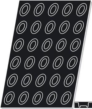 Demarle Flexipan, Oval Savarin 1.62 Oz, 70mm x 50mm x 22mm Deep (2-3/4 x 2 x 7/8 Deep), 30 Cavities