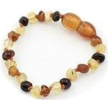 The Art of Cure Baltic Amber Teething 5.5 inch Bracelet - FTIR Lab Tested Authentic Amber (multicolored)