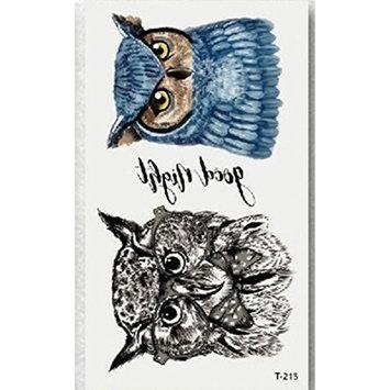 CYCTECH Tattoo sticker, Temporary Non-toxic Tattoo Stickers Body Art Waterproof Owl