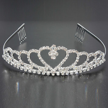 Bridal Wedding Prom Rhinestone Crystal Pageant Queen Crown Comb Tiara Headband Jewelry
