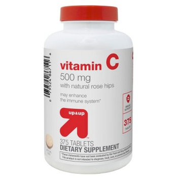 Vitamin C 500mg with Rose Hips Dietary Supplement Tablets - 375ct - Up&Up™