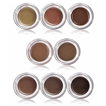 VERONNI 8-color natural dyed ointment glass box loaded eyebrows do not bloom waterproof lasting(Pack of 48)