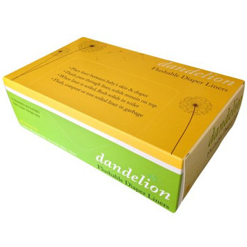 Dandelion Diapers Diaper Liners, Biodegradable and Flushable, 100% Bamboo - Box of 100