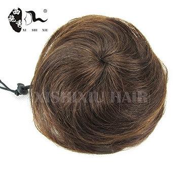 100% Human Hair Bun 30g Elastic Hair Chignon Bun Natural Clip In Hairpiece Apply Fake Hair Bun Extensions Xishixiu Hair