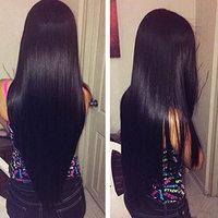 Shireen Brazilian Straight Hair 4 Bundles Grade 8A 100% Unprocessed Virgin Human Hair Extensions Natural Black Total 400g Mixed Length
