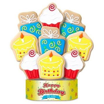 Happy Birthday Surprise Cookie Bouquet 9 Cookie Arrangement