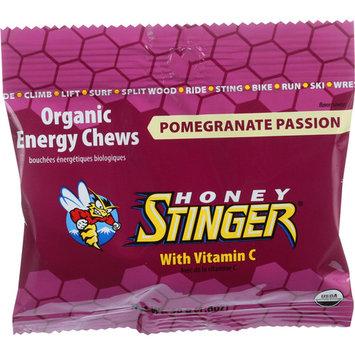 Honey Stinger Fruit Chew Pomegranate Passion Fruit Organic Energy, 1.8 OZ (Pack of 12)