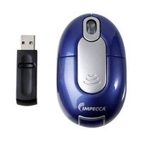 Impecca Wm700Bs - Wireless Optical Mouse - Blue With Silver Trim