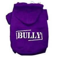 Mirage Pet Products Bully Screen Printed Pet Hoodies Purple Size Sm (10)