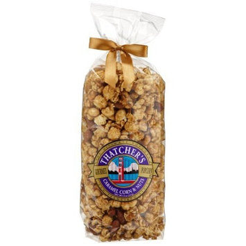 Thatcher's Gourmet Specialties Popcorn, Caramel Corn and Nuts, 8-Ounce Bags (Pack of 12)