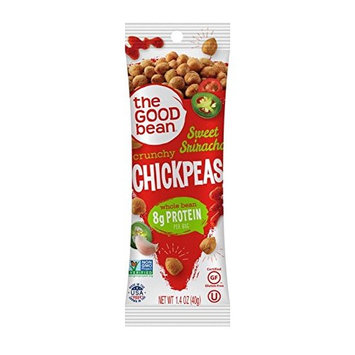 The Good Bean Chickpeas Snacks Grab & Go, Sweet Sriracha, Gluten Free and Non-GMO, 1.4 Ounce, 10 Count [Sweet Sriracha]